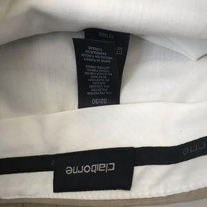 Claiborne Pants - Claiborne Men 32 30 NW Tags Beige Dress Pants